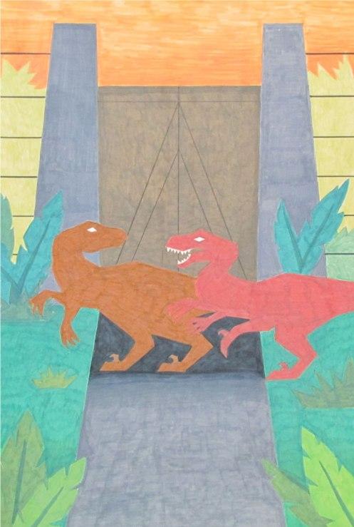 Jurassic-Park-Poster-Drawn